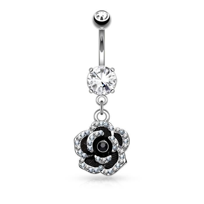 Jewelry & Watches Piercing Nombril Crystal En Acier Chirurgical 316l