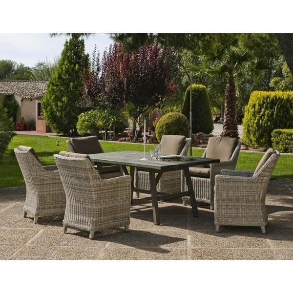 Table De Jardin En R Sine Tress E Mod Le Ainoa 180 Achat Vente Table De Jardin Table De