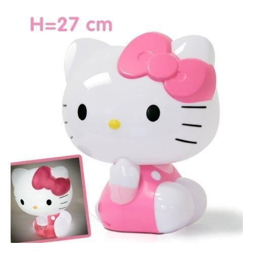 hello kitty lampe veilleuse enfant plastique j rose achat vente veilleuse b b. Black Bedroom Furniture Sets. Home Design Ideas