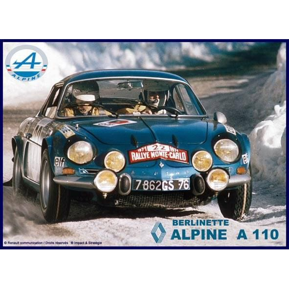 plaque metal 20x15cm alpine renault a110 berlinette rallye monte achat vente tableau toile. Black Bedroom Furniture Sets. Home Design Ideas