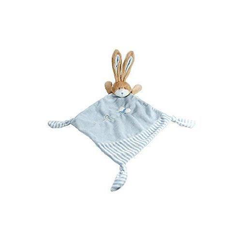 Peluche Doudou Couverture Petit Lapin Bleu pour Un Nouveau N/é B/éb/é Gar/çon