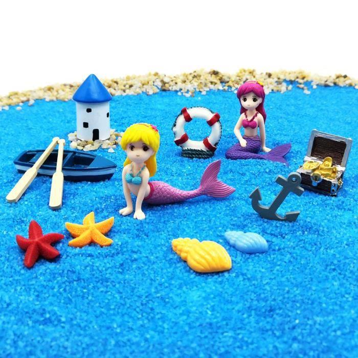 Emien Figurines De Sirene Miniatures Pour Decoration De Maison De Poupee Decoration De Jardin De Fee Decoration De Jardin Sabl