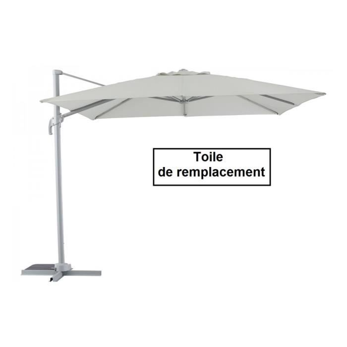 toile pour parasol decentre fresno carre gris c achat vente toile de parasol toile parasol. Black Bedroom Furniture Sets. Home Design Ideas