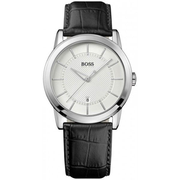 montre homme bracelet cuir hugo boss. Black Bedroom Furniture Sets. Home Design Ideas