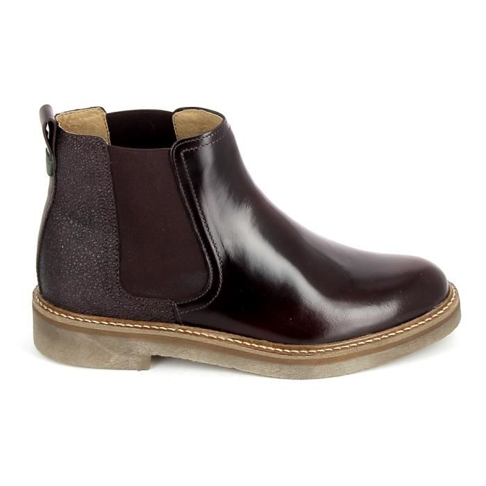 Botte et bottine KICKERS Oxfordchic Bordeaux Graine