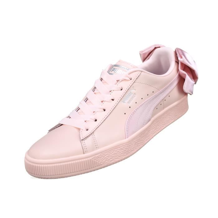 best sneakers c5573 3ed5f Basket femme Puma Suede Bow Wns 367319 - 02 Pink Rose Rose ...