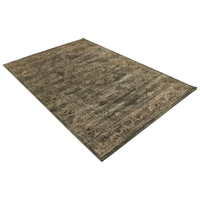 tapis salon vintage marron universol achat vente tapis cdiscount. Black Bedroom Furniture Sets. Home Design Ideas