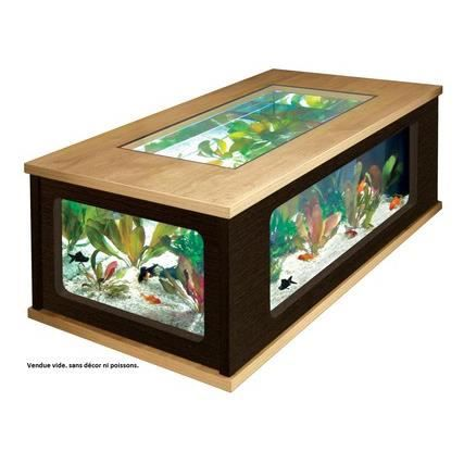 aquarium table basse chene et wenge achat vente aquarium aquarium table basse cdiscount. Black Bedroom Furniture Sets. Home Design Ideas