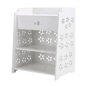 CHEVET Fleur-Chambre Table de nuit, table de chevet blanc