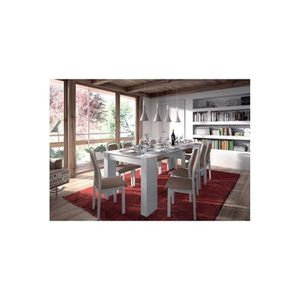 TABLE À MANGER SEULE TABLE EXTENSIBLE LEXA - Blanc