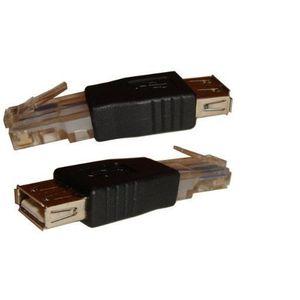 CÂBLE RÉSEAU  Adaptateur ADSL USB Femelle vers ETHERNET RJ45 Mâl