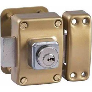 SERRURE - BARILLET Verrou de securite pour porte avec cylindre 40 mm