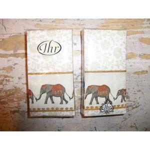 SERVIETTE JETABLE MOUCHOIRS EN PAPIER DECOR ELEPHANTS