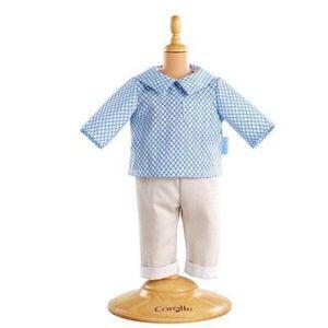 ACCESSOIRE POUPON Ensemble bébé 36 cm - Pantalon beige