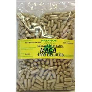 BEAUTÉ DE LA PEAU GELULES MACA 1000 GELULES à 300 mg poudre pure....