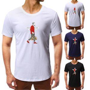 CHEMISIER - BLOUSE Impression mode d'ete pour hommes T-shirt à manche