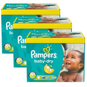 COUCHE Maxi Pack 308 Couches Pampers Baby Dry taille 5+