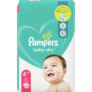 COUCHE Pampers Baby-Dry Taille4+, 42Couches