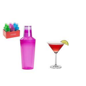 SHAKER - SET COCKTAIL  Shaker à Cocktail Grand 1000ml 3 Piece Bouteille d