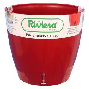 JARDINIÈRE - POT FLEUR  Riviera Pot de fleurs Eva Nouveau Rond Rouge 26 Cm