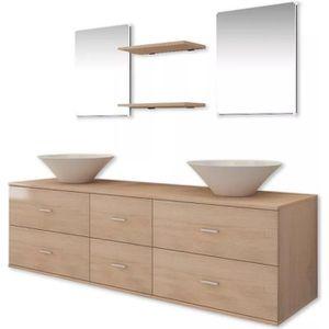 SALLE DE BAIN COMPLETE vidaXL 7 pièces de mobilier de salle de bain et la