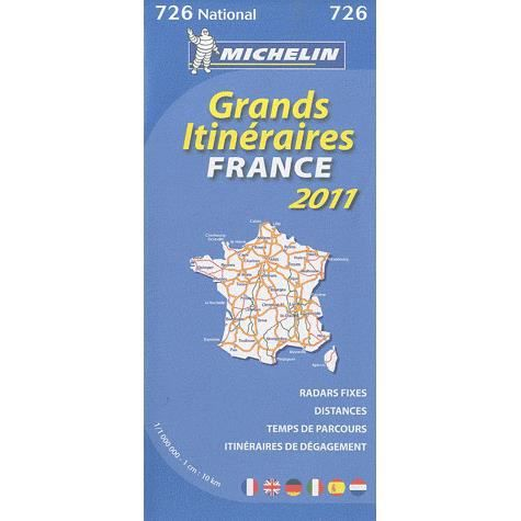 grands itineraires france edition 2011 achat vente livre collectif michelin parution 08. Black Bedroom Furniture Sets. Home Design Ideas