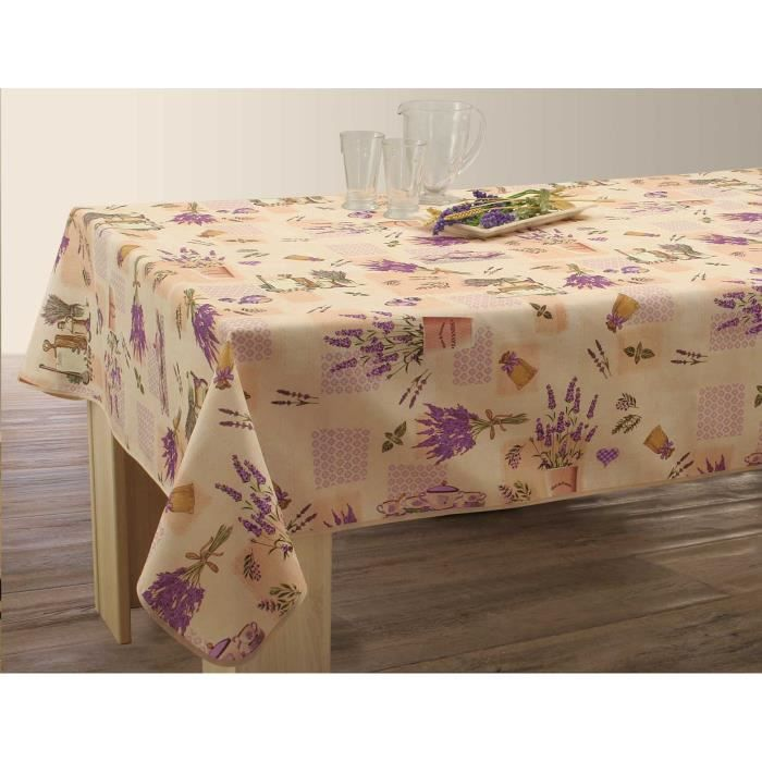 Nappe anti-taches Rectangulaire 150x200 cm - Lavande Naturel