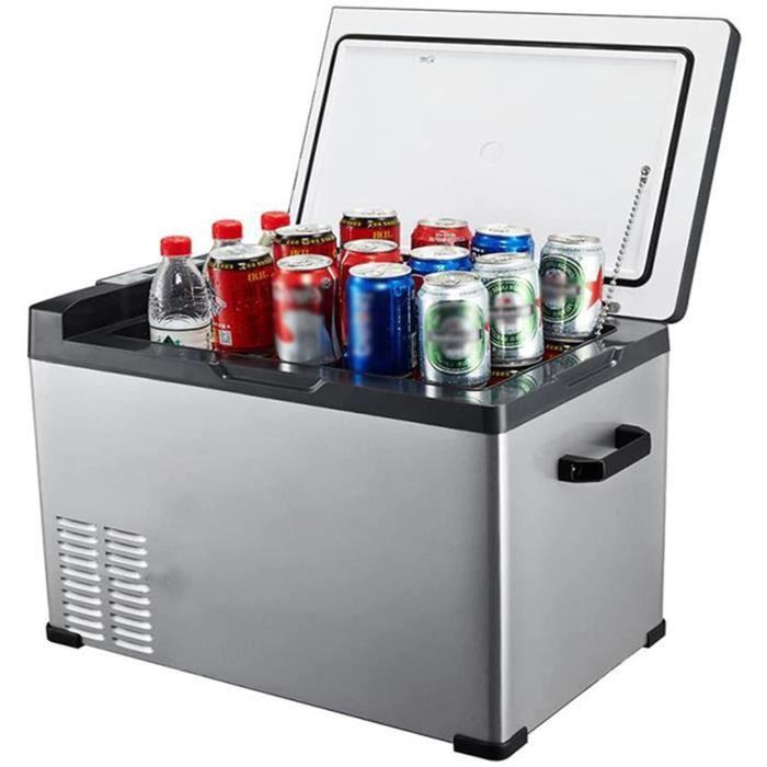 Réfrigérateur De Voiture 50 Litres Mini Réfrigérateur 12 - 24V Réfrigérateur De Voiture Portable Camping Réfrigérateur Congélateur G