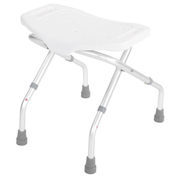 Tabouret de douche pour le bain, siège pliant pour aides au bain avec ventouse fixe antidérapante, chaise de banc de salle de bain