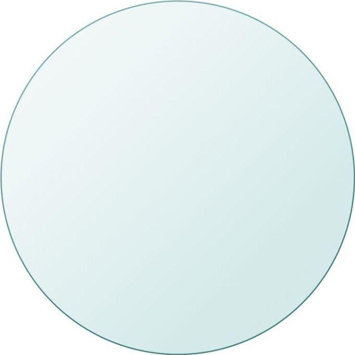 Table basse ronde 300 mm verre moderne design HB056