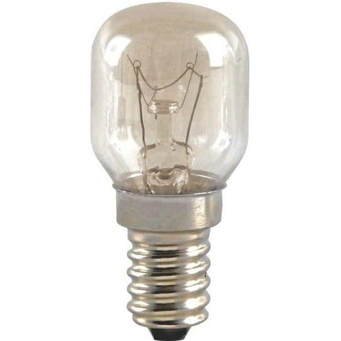 Ampoule four 25w e14 300° pour Micro-ondes Electrolux, Refrigerateur Indesit, Cuisiniere Indesit, Four Viva, Four Thermor, Four