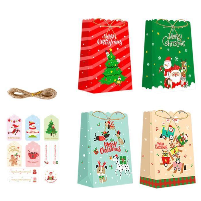 1 Set Sac de rangement de cadeau décoratif élégant Boîte-cadeau de Noël bonbons cremeux confiserie chocolat