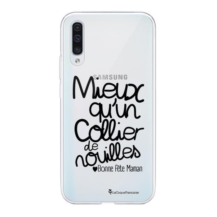 Coque Samsung Galaxy A50 360 intégrale transparente Collier de nouilles Ecriture Tendance Design La Coque Francaise.