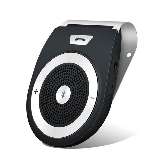 Kit Mains Libres pour Voiture Bluetooth 4.1-S Auto Allume ,Support deux telephones et GPS