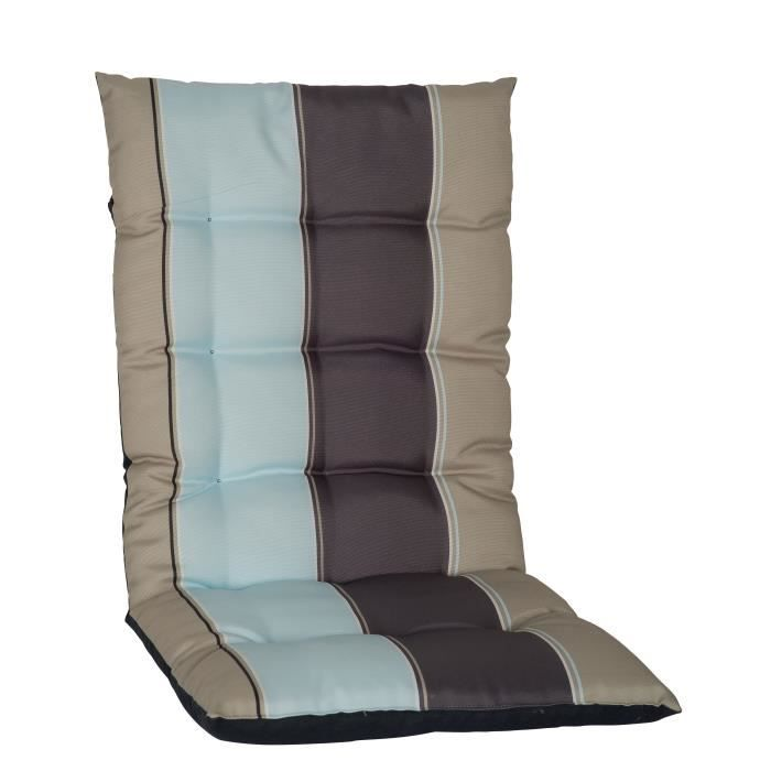 jardin prive coussin de fauteuil haut dossier j 39 adore 85x42x5 cm gris ebay. Black Bedroom Furniture Sets. Home Design Ideas