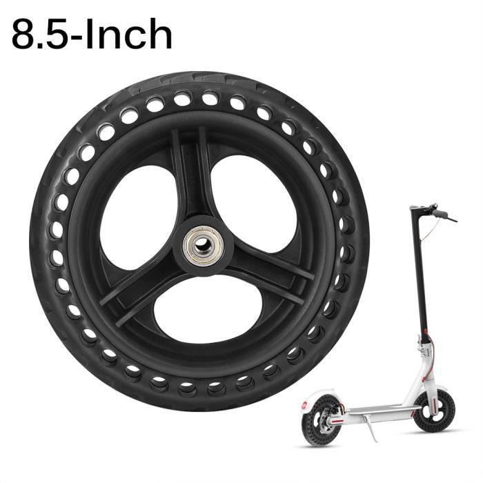 Pneu de scooter électrique en fibre de verre de 8,5 pouces en nid d'abeille noir de pneu de scooter électrique non pneumatique
