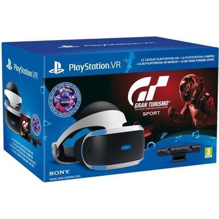 PLAYSTATION VR V2 + CAMERA + GT SPORT+ VR WORLDS