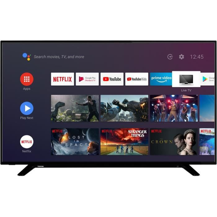 TOSHIBA 43UA2063DG TV LED UHD - 43'' (108cm) - 4K UHD HDR - Android TV - Dolby Audio - 4xHDMI - 2xUSB - Classe énergétique A+