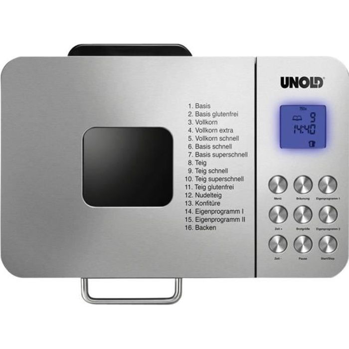 UNOLD BACKMEISTER 68456 Edel - Machine à pain - 550 Watt - inox