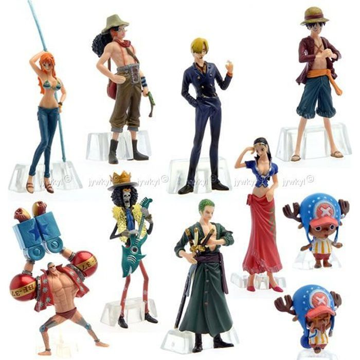 figurine one piece hauteur 10cm kit de 8 figuri achat vente figurine personnage cdiscount. Black Bedroom Furniture Sets. Home Design Ideas