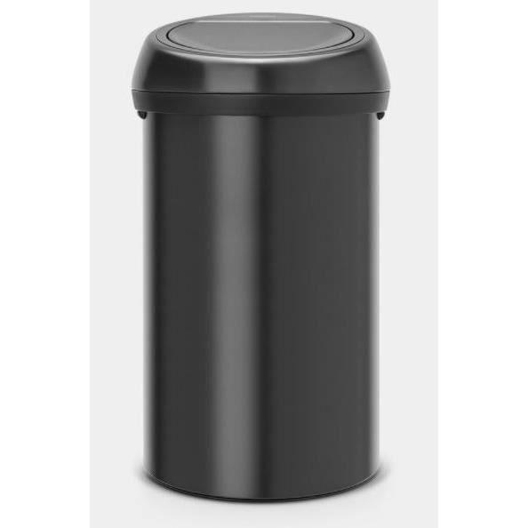 POUBELLE - CORBEILLE BRABANTIA Poubelle Touch Bin - 60L - Noir mat