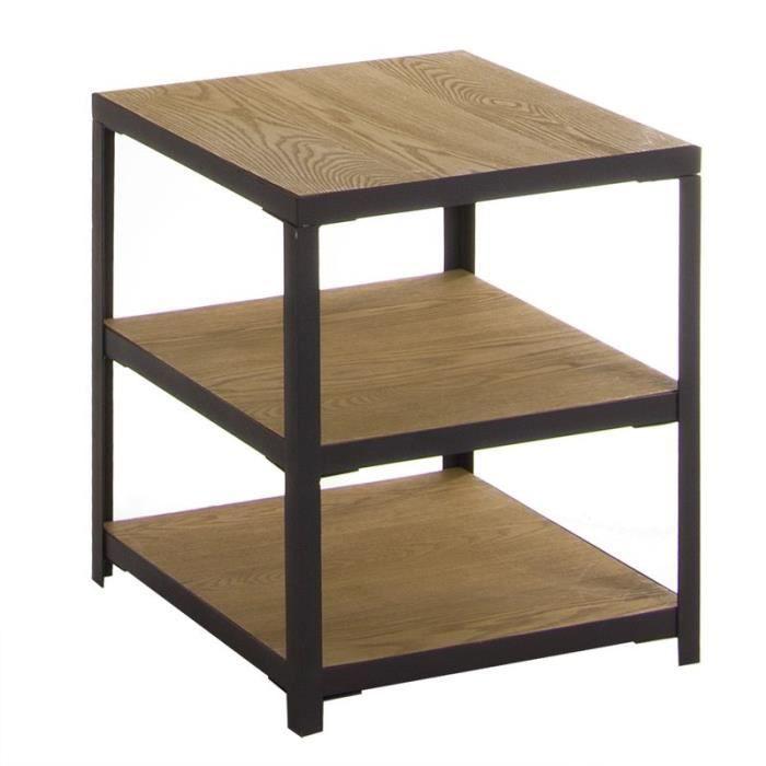 TABLE D'APPOINT Home Decor - Table Auxiliaire 3 Niveaux en Bois 45