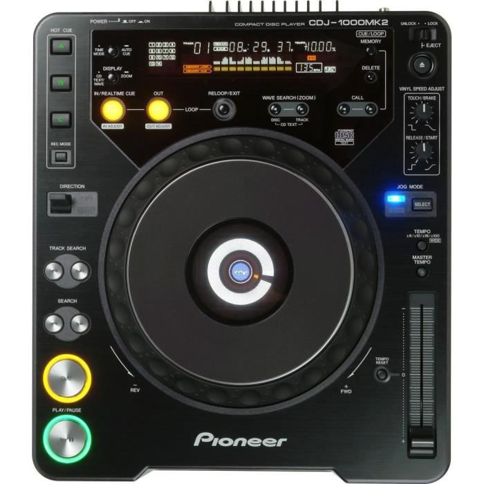 platine cd pioneer cdj 1000 mk2 platine dj prix pas. Black Bedroom Furniture Sets. Home Design Ideas