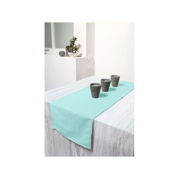 chemin de table cosy turquoise achat vente chemin de table cdiscount. Black Bedroom Furniture Sets. Home Design Ideas