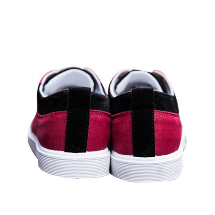 Chaussures En Toile Hommes Basses Quatre Saisons Durable YLG-XZ115Rouge43