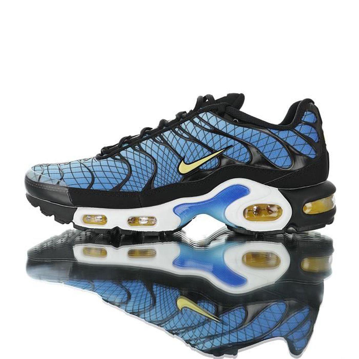 Baskets Nike Air Max TN Plus TXT Tuned 1 Homme Bleu Bleu Bleu ...
