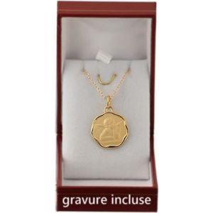 PARURE Médaille ronde de naissance bapteme communion avec