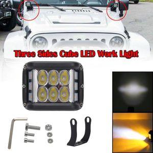 ALLUMAGE AUTO DES FEUX 4 pouces 90W Trois côtés Cube LED Light Work Truck