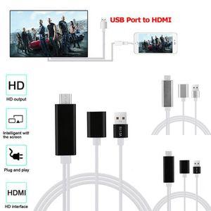CÂBLE TV - VIDÉO - SON USB 3.0 vers HDMI 4K HD 1080P HD AV TV câble adapt