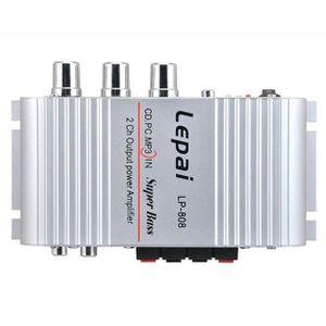 AMPLI HOME CINÉMA Mini Salut-Fi Audio Stéréo Amplificateur 12V 20W X